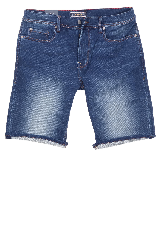 Salsa Herren Jeans Shorts Jog-Denim - blau 36