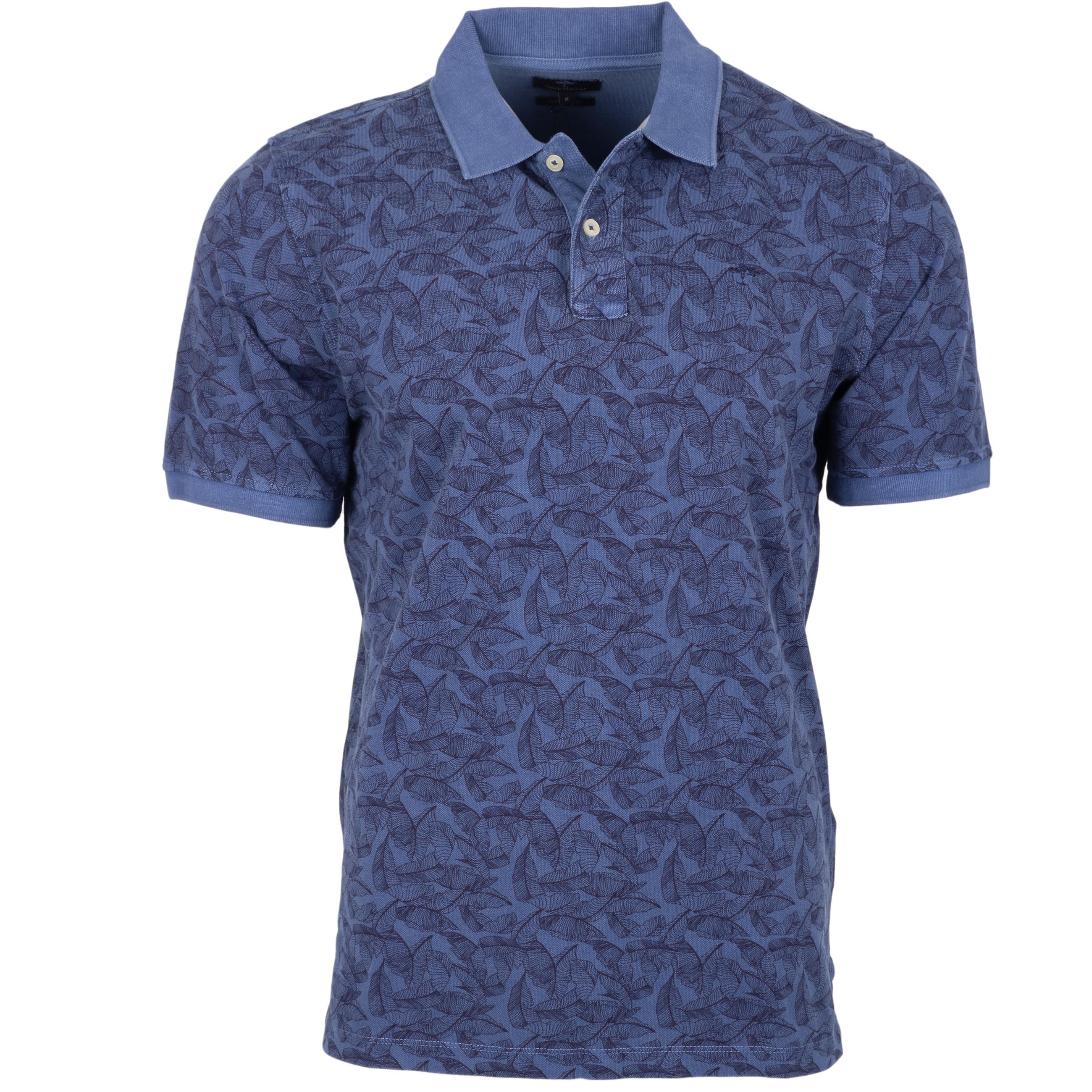 Fynch-Hatton Polo Garment Dyed - dunkelblau L