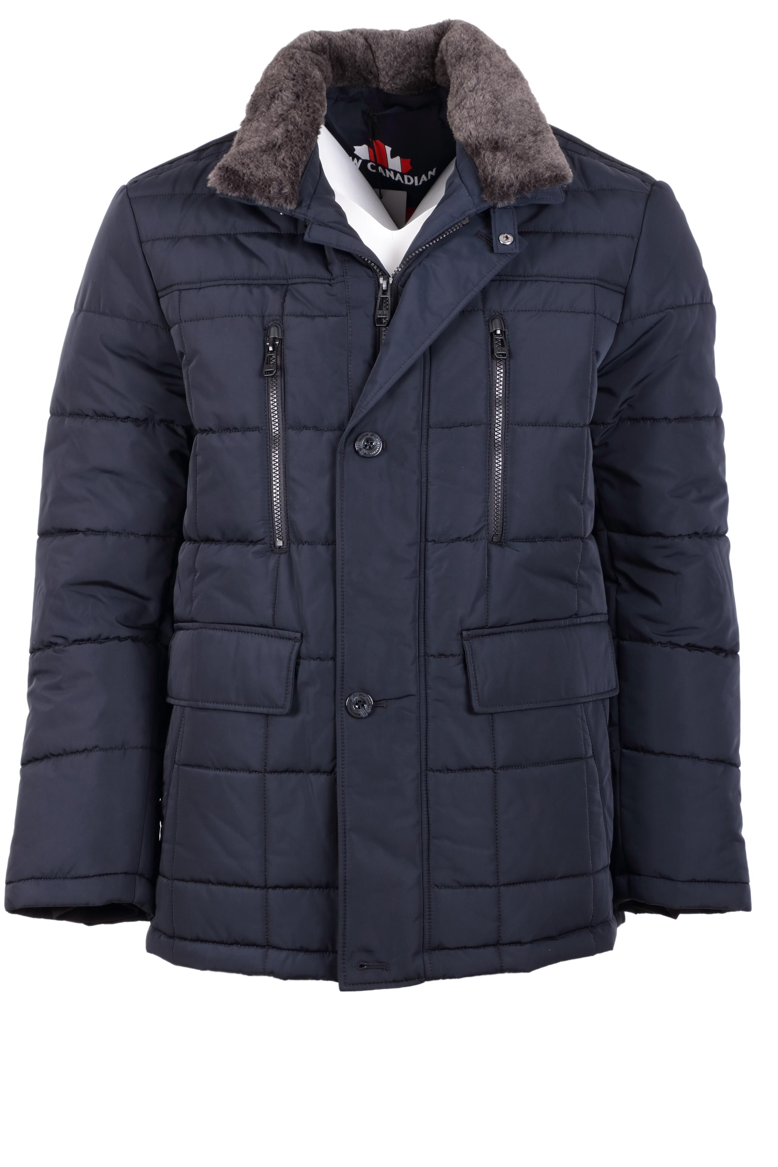 New Canadian Herren Winterjacke - dunkelblau 30