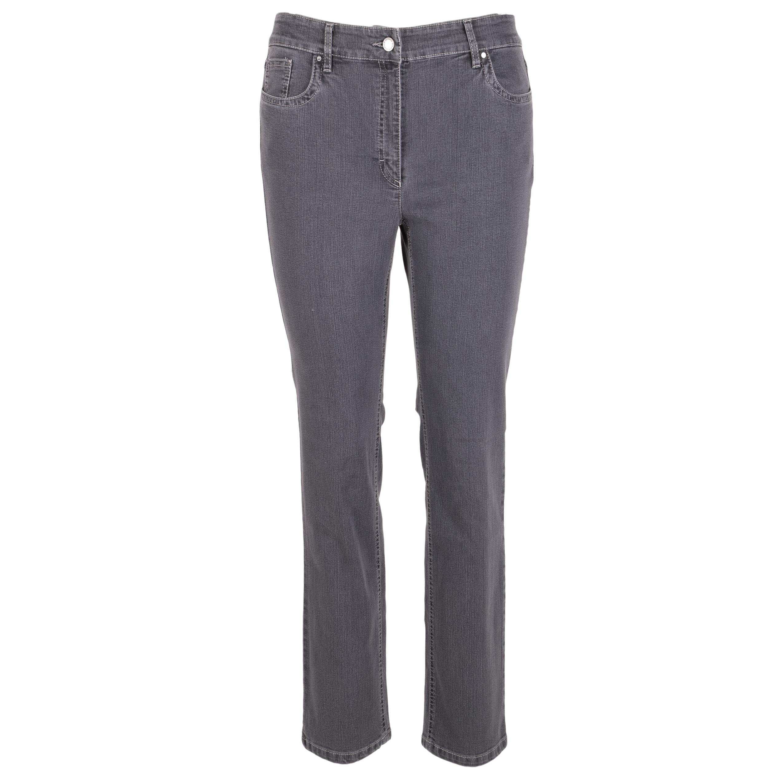 Zerres Damen Jeans Cora comfort S 42 grau