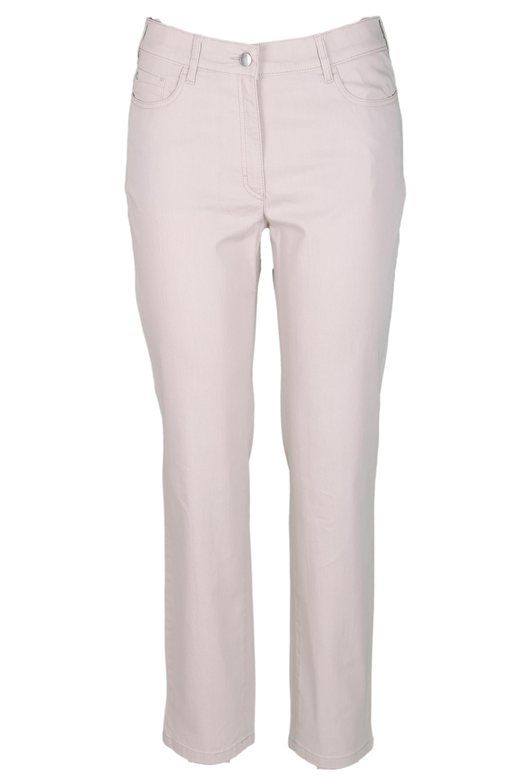 Zerres Damen Jeans Greta sommerliche Qualität - beige 42
