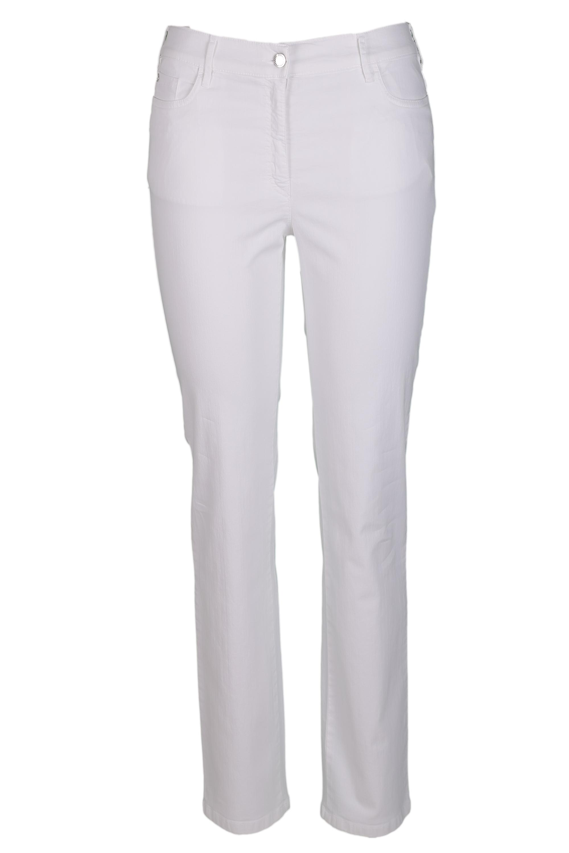 Zerres Damen Jeans Greta sommerliche Qualität - weiß 40