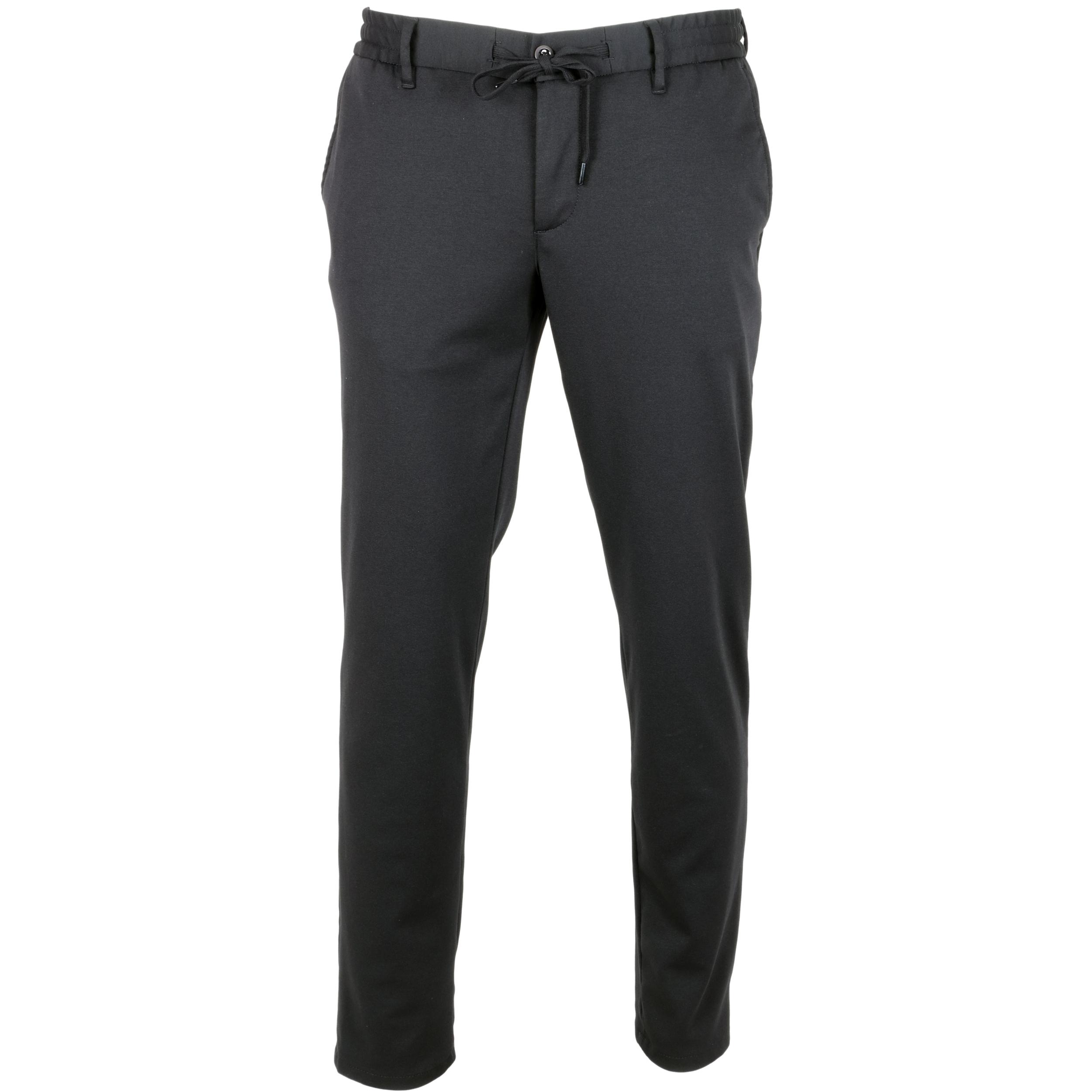 Alberto Herren Hose Jogg-Pants Jersey - schwarz 36/32
