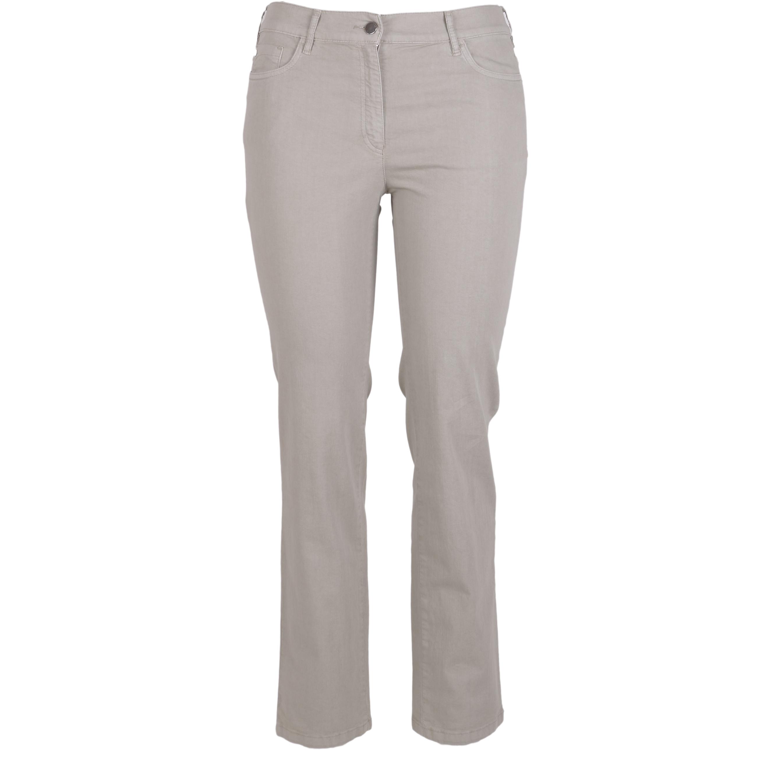 Zerres Damen Jeans Greta sommerliche Qualität - khaki 21