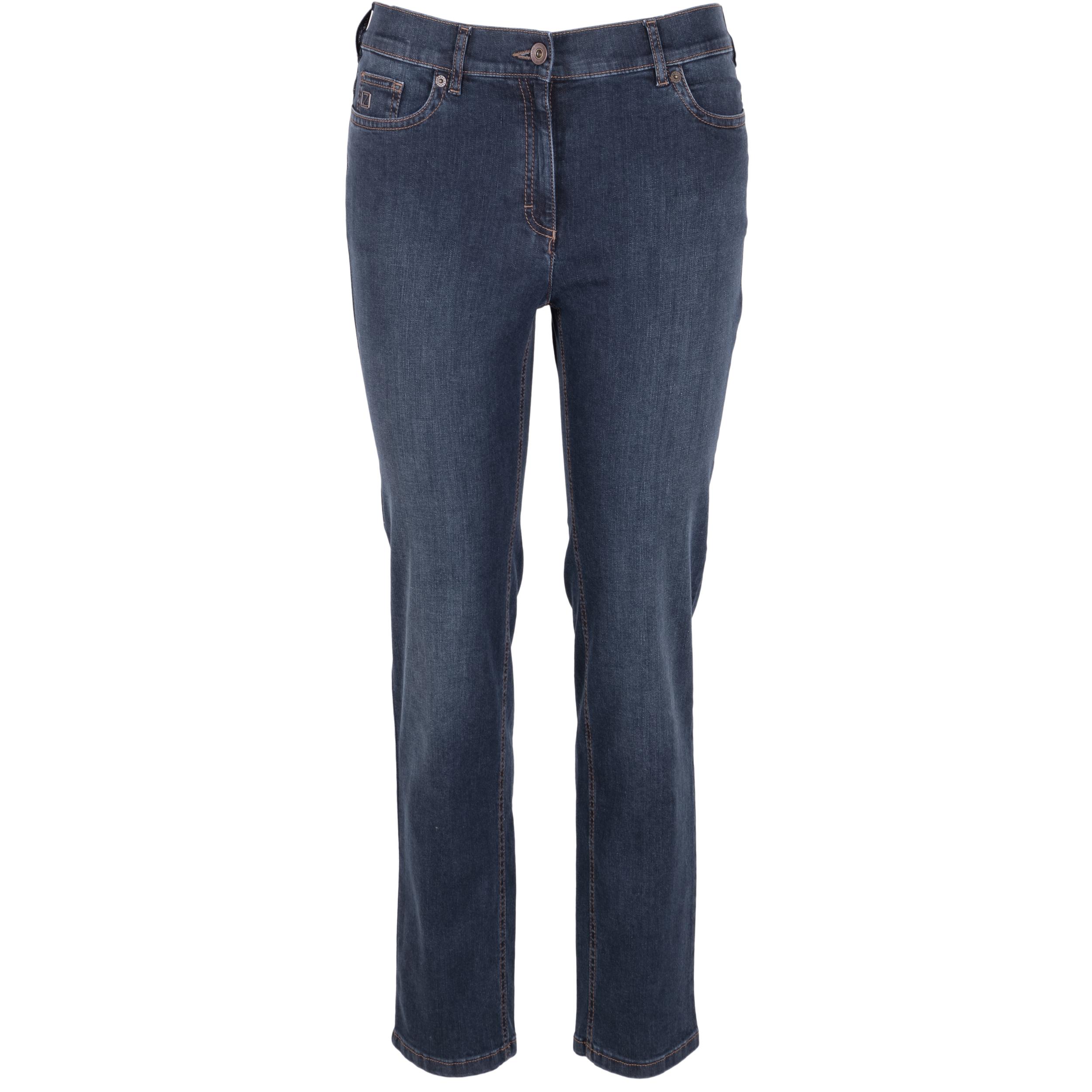 Zerres Damen Jeans Greta elastischer Bund - dunkelblau 21