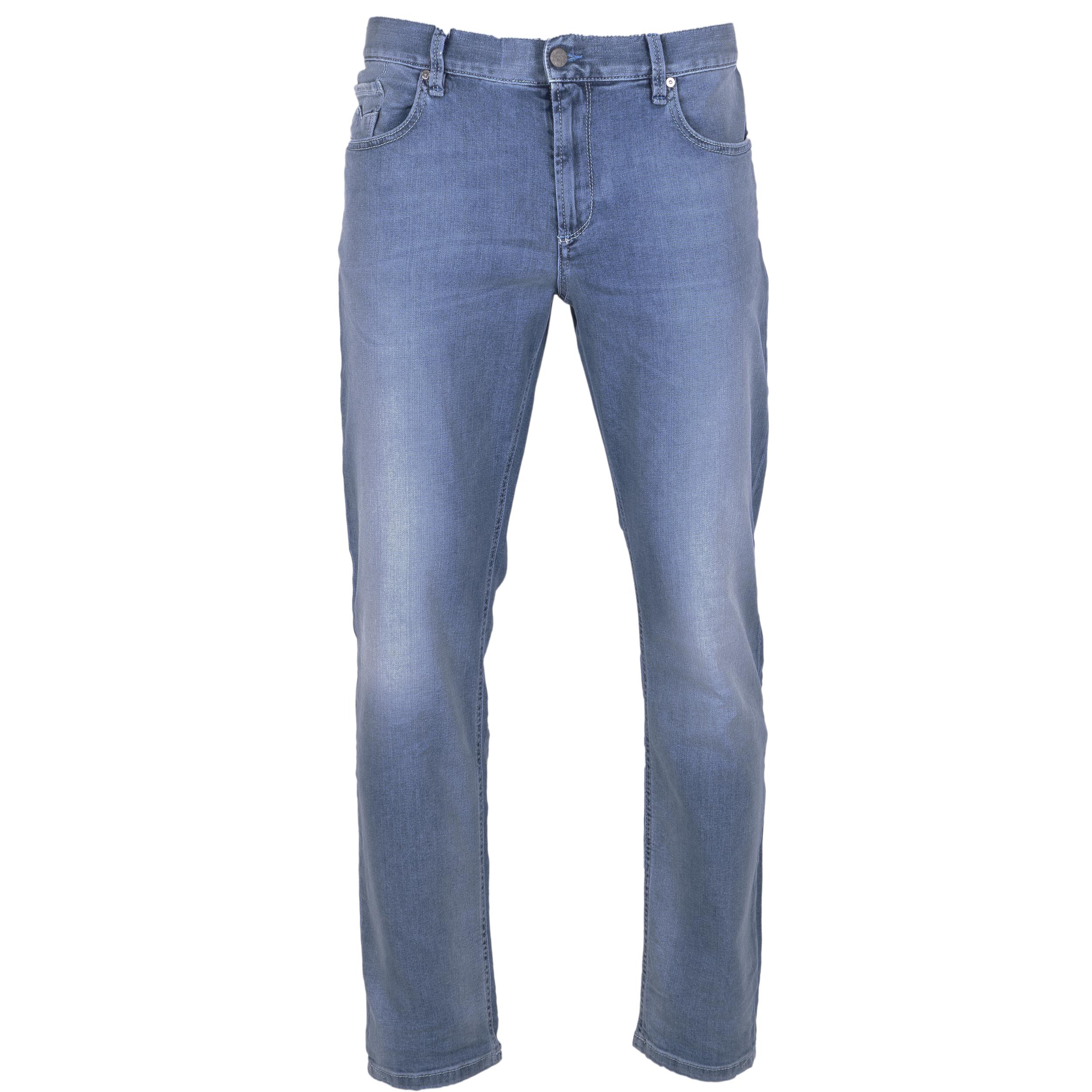 Alberto Herren Jeans Slipe Vintage - hellblau 32/34